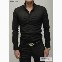 Новая мужская приталенная рубашка р.44-46