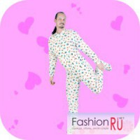 Фланелевая пижама комбинезон
