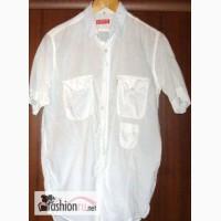 Рубашка белая с коротким рукавом. Индия. в Мытищах