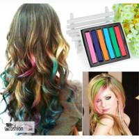 Цветные мелки для окрашивания волос 6 шт в Краснодаре