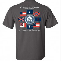 Футболка Confederate States of Amerika Grey