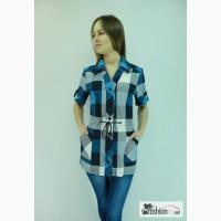 Рубашки женские в клетку оптом швейное производство Конс в Иваново
