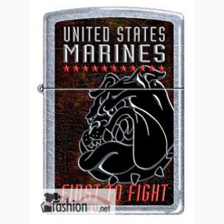 Зажигалка Zippo 207 USMC First To Fight