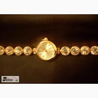 Позолоченные женские наручные часы.Новые в Москве