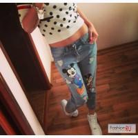 Стильные джинсы с Микки Маусом Дональд в Москве