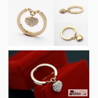 Кольцо с подвеской сердце Heart Gold К39 в Ростове-на-Дону
