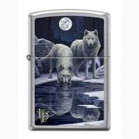 Зажигалка Zippo 9295 Lisa Parker Wolves and Full Moon