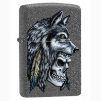 Зажигалка Zippo 29863 Wolf Skull Feather